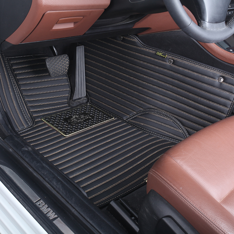 Custom fit Hand sewing leather car carpet car floor liner mat