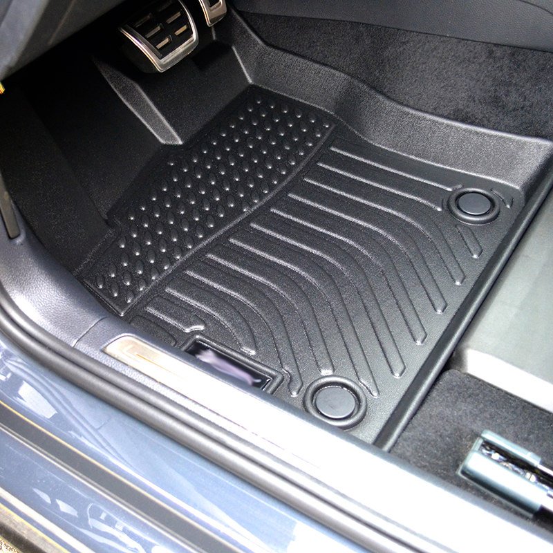 3D TPE all weather car floor liners mats for Volkswagen Golf R