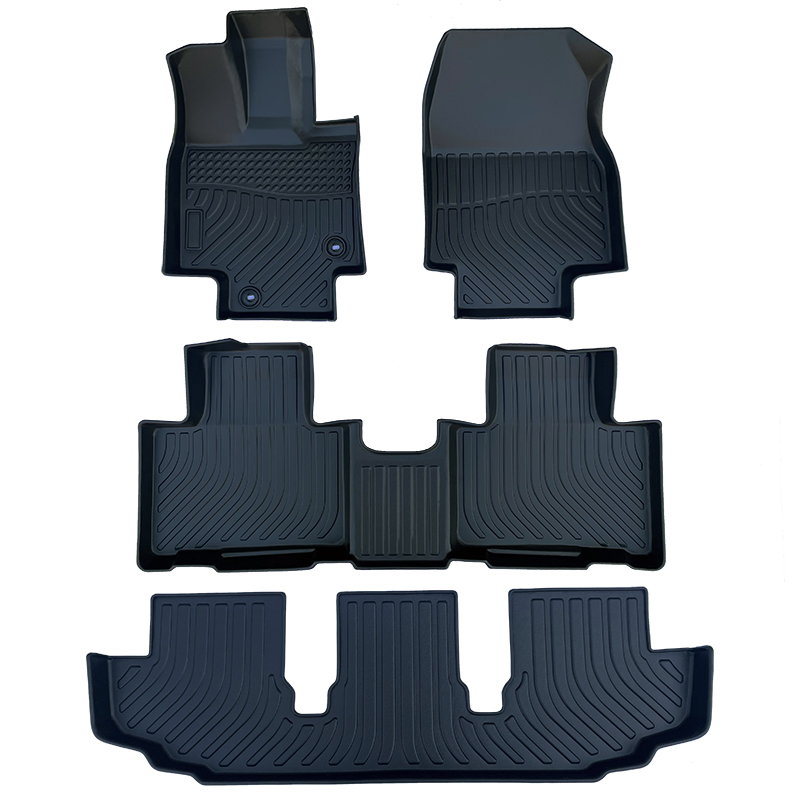 3D TPE all weather car floor liners mats for Toyota Highlander