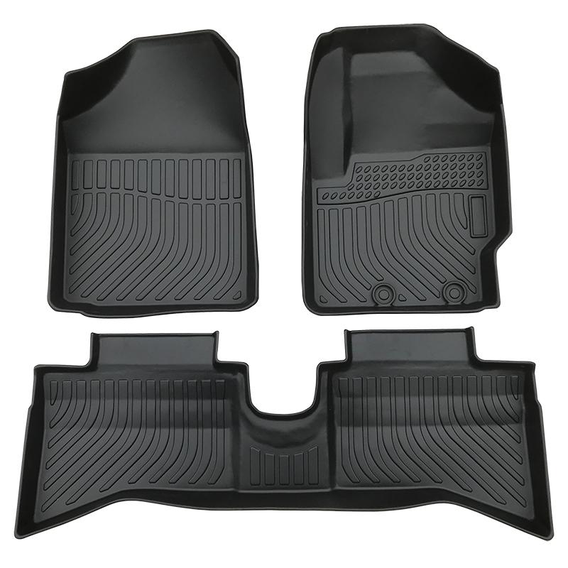 3D TPE car floor mats for Toyota Aqua Style Black トヨタ・アクア
